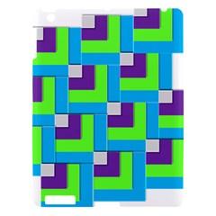 Geometric 3d Mosaic Bold Vibrant Apple Ipad 3/4 Hardshell Case by Amaryn4rt