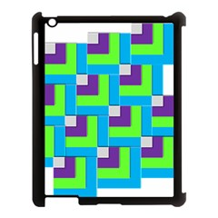 Geometric 3d Mosaic Bold Vibrant Apple Ipad 3/4 Case (black) by Amaryn4rt