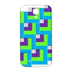 Geometric 3d Mosaic Bold Vibrant Samsung Galaxy S4 I9500/i9505  Hardshell Back Case by Amaryn4rt