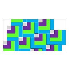Geometric 3d Mosaic Bold Vibrant Satin Shawl by Amaryn4rt