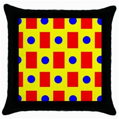 Pattern Design Backdrop Throw Pillow Case (black) by Amaryn4rt