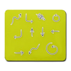 Arrow Line Sign Circle Flat Curve Large Mousepads