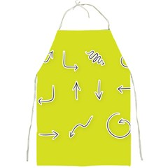 Arrow Line Sign Circle Flat Curve Full Print Aprons by Amaryn4rt