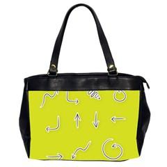 Arrow Line Sign Circle Flat Curve Office Handbags (2 Sides)  by Amaryn4rt