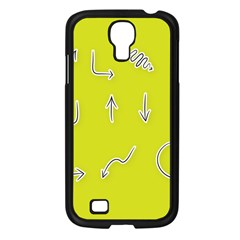Arrow Line Sign Circle Flat Curve Samsung Galaxy S4 I9500/ I9505 Case (black) by Amaryn4rt