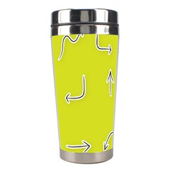 Arrow Line Sign Circle Flat Curve Stainless Steel Travel Tumblers by Amaryn4rt