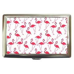 Flamingo Pattern Cigarette Money Cases by Valentinaart