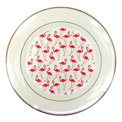 Flamingo Pattern Porcelain Plates by Valentinaart