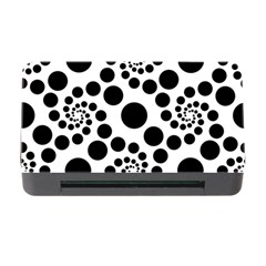 Dot Dots Round Black And White Memory Card Reader With Cf by Amaryn4rt