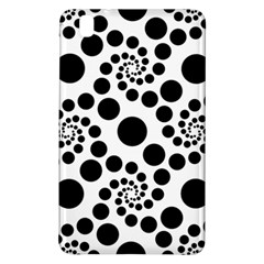 Dot Dots Round Black And White Samsung Galaxy Tab Pro 8 4 Hardshell Case by Amaryn4rt