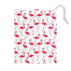 Flamingo Pattern Drawstring Pouches (extra Large) by Valentinaart