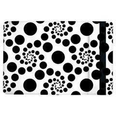 Dot Dots Round Black And White Ipad Air Flip by Amaryn4rt