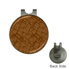 Brown Pattern Rectangle Wallpaper Hat Clips With Golf Markers by Amaryn4rt