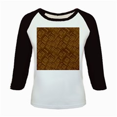 Brown Pattern Rectangle Wallpaper Kids Baseball Jerseys