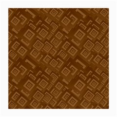 Brown Pattern Rectangle Wallpaper Medium Glasses Cloth