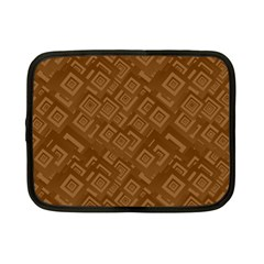 Brown Pattern Rectangle Wallpaper Netbook Case (small)