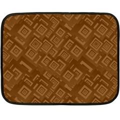 Brown Pattern Rectangle Wallpaper Double Sided Fleece Blanket (mini)  by Amaryn4rt