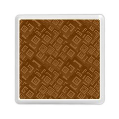 Brown Pattern Rectangle Wallpaper Memory Card Reader (square)  by Amaryn4rt