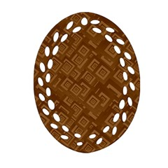 Brown Pattern Rectangle Wallpaper Oval Filigree Ornament (two Sides) by Amaryn4rt