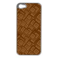 Brown Pattern Rectangle Wallpaper Apple Iphone 5 Case (silver) by Amaryn4rt