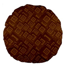 Brown Pattern Rectangle Wallpaper Large 18  Premium Round Cushions by Amaryn4rt