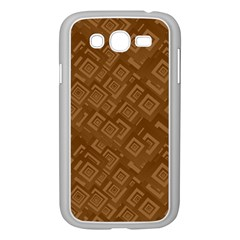Brown Pattern Rectangle Wallpaper Samsung Galaxy Grand Duos I9082 Case (white) by Amaryn4rt