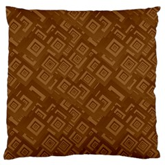 Brown Pattern Rectangle Wallpaper Large Flano Cushion Case (two Sides) by Amaryn4rt