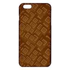 Brown Pattern Rectangle Wallpaper Iphone 6 Plus/6s Plus Tpu Case by Amaryn4rt