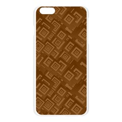 Brown Pattern Rectangle Wallpaper Apple Seamless iPhone 6 Plus/6S Plus Case (Transparent) by Amaryn4rt