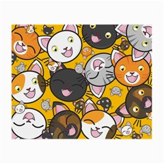 Cats Pattern Small Glasses Cloth by Valentinaart