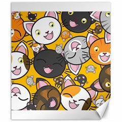 Cats Pattern Canvas 20  X 24   by Valentinaart