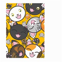 Cats Pattern Large Garden Flag (two Sides) by Valentinaart