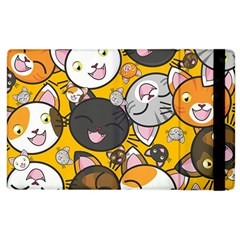 Cats Pattern Apple Ipad 2 Flip Case by Valentinaart