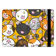 Cats Pattern Samsung Galaxy Tab Pro 12 2  Flip Case by Valentinaart