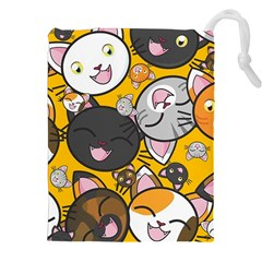 Cats Pattern Drawstring Pouches (xxl) by Valentinaart