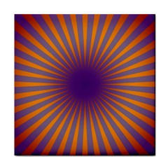 Retro Circle Lines Rays Orange Face Towel by Amaryn4rt
