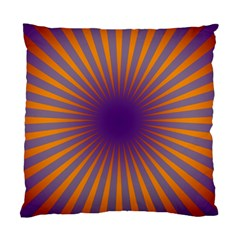 Retro Circle Lines Rays Orange Standard Cushion Case (two Sides) by Amaryn4rt