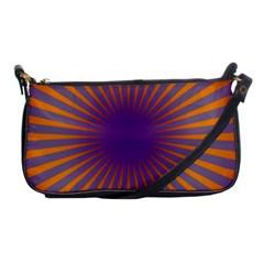 Retro Circle Lines Rays Orange Shoulder Clutch Bags by Amaryn4rt