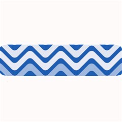 Waves Wavy Lines Pattern Design Large Bar Mats by Amaryn4rt