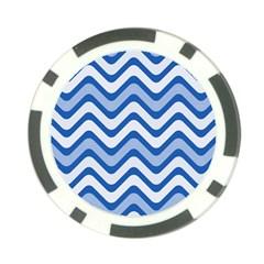 Waves Wavy Lines Pattern Design Poker Chip Card Guard