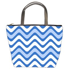 Waves Wavy Lines Pattern Design Bucket Bags by Amaryn4rt