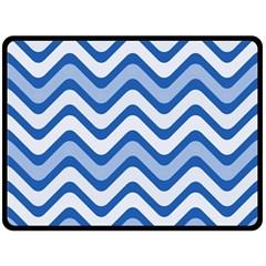 Waves Wavy Lines Pattern Design Fleece Blanket (large)  by Amaryn4rt