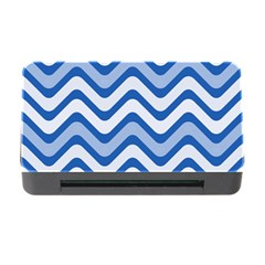 Waves Wavy Lines Pattern Design Memory Card Reader With Cf by Amaryn4rt