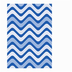 Waves Wavy Lines Pattern Design Small Garden Flag (two Sides) by Amaryn4rt