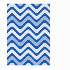 Waves Wavy Lines Pattern Design Large Garden Flag (two Sides) by Amaryn4rt