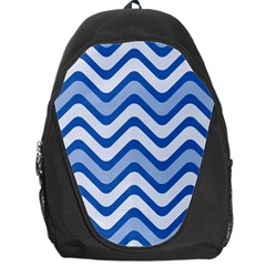 Waves Wavy Lines Pattern Design Backpack Bag by Amaryn4rt
