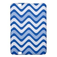 Waves Wavy Lines Pattern Design Kindle Fire Hd 8 9  by Amaryn4rt