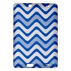 Waves Wavy Lines Pattern Design Amazon Kindle Fire Hd (2013) Hardshell Case by Amaryn4rt