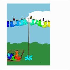 Welly Boot Rainbow Clothesline Large Garden Flag (two Sides) by Amaryn4rt