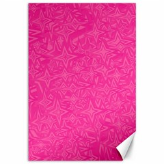 Geometric Pattern Wallpaper Pink Canvas 12  X 18   by Amaryn4rt